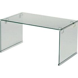 【お取り寄せ】AZUMAYA(東谷) 圧迫感を感じない コの字型のシンプルデスク ガラステーブルS | PT-28CL
