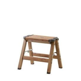 【在庫あり】AZUMAYA(東谷)木目調アルミ素材ステップスツール(1段) 脚立|PC-401