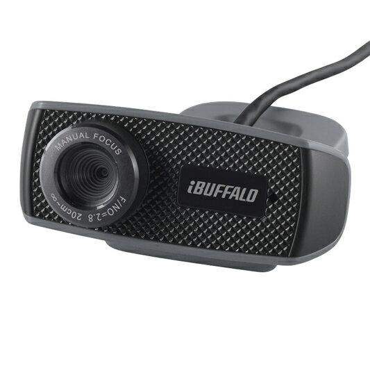 【お取り寄せ】Buffalo(バッファロー) マイク内蔵120万画素Webカメラ HD720p対応モデル ブラック|BSWHD06MBK