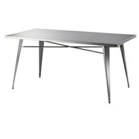 【お取り寄せ】東谷 ステンレス ダイニングテーブル クールなモノートン部屋のアクセントに|STN-334