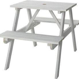 【お取り寄せ】AZUMAYA(東谷) テーブル&ベンチ W75 ホワイト|ODS-91WH
