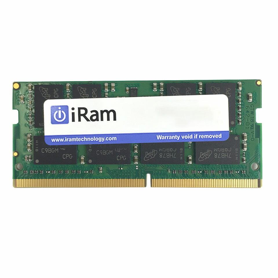 【Mac用】【メモリ】iRam 260Pin DDR4-2400 SDRAM S.O.DIMM PC4-19200 16GB (IR16GSO2400D4) 【RCP】