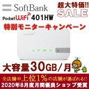 レンタル wifi レンタル 30GB/月 30日 ソフトバンク ポケットwifi 401HW 1ヶ月 レンタルwifi ルーター wi-fi 国内専用 wifiレンタル wi…