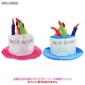 お誕生日のお祝いやコスプレ!ケーキ型帽子/ハット/誕生日帽子/パーティー帽子/ろうそく/ハロウィン/コスプレ/コスチューム