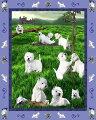 ゴブラン織りタペストリーウエスト・ハイランド・ホワイト・テリア/ウエスティ輸入雑貨犬雑貨犬グッズ