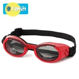 【Doggles (ドグルス)】Shiny Red Frame/Smoke Lens (ILS2犬用ゴーグル/レッド)