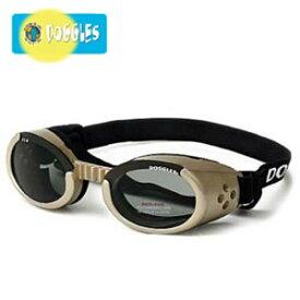 【Doggles (ドグルス)】Chrome Frame/Smoke Lens (ILS2犬用ゴーグル/クロム/スモークレンズ)
