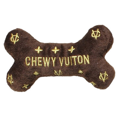 【Dog Diggin Designs】Chewy Vuiton Bone Toy(犬用インポートTOY/チュイヴィトン・ボーントイ)