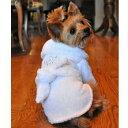 【DOGGIE DESIGN(ドギーデザイン)】White Silver Tiara Cotton Dog Bathrobe(ホワイトシルバーティアラバスローブ…