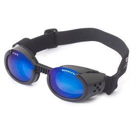 【Doggles (ドグルス)】Metallic Black ILS2 Doggles Mirror Blue Lens(ILS2犬用ゴーグル/メタリックブラック/ミラーブルーレンズ)
