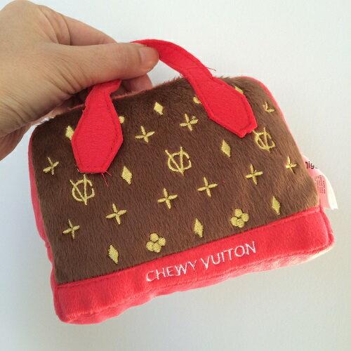 【Dog Diggin Designs】Chewy Vuiton Posh Purse Red Trim-L(チュイヴィトンポッシュパースレッドトリムLサイズ/犬用インポートTOY】【8/15〜8/18迄休業】