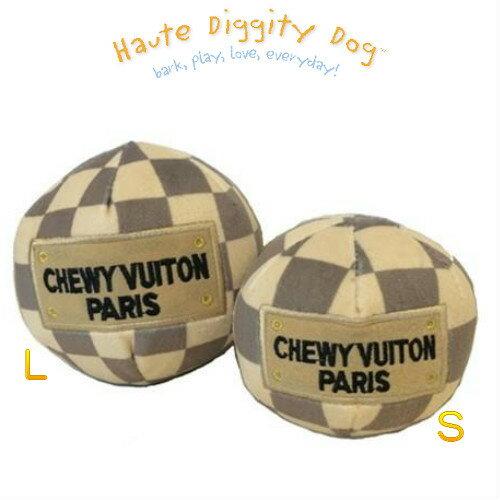 【Haute Diggity Dog(オートディギティドッグ)】Checker Chewy Vuiton plush ball Toy/Large (チェッカー チュウィ ヴィトン/ボール/犬用インポートトイ/Lサイズ)【8/15〜8/18迄休業】