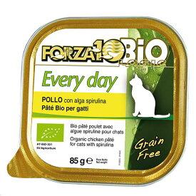 無添加 オーガニック 有機 シニア 猫 フォルツァディエチ FORZA10 エブリディ ビオ チキン 1ケース 85g×12缶 Every day Bio chiken キャットフード フォルツァ10 オーガニック ミート