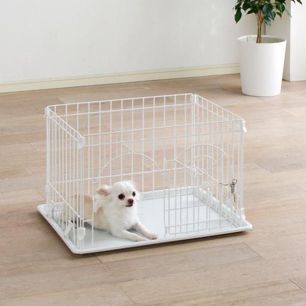 システムサークルトレー付 STN-400T ホワイト 送料無料サークル 犬 ケージ ハウス ゲージ ペット 小型犬 アイリスオーヤマ Pet館 ペット館 楽天 犬の日