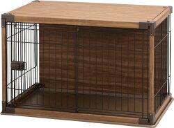 背板でおうちの壁汚れ防止!インテリアウッディサークルPIWS-960送料無料犬犬用サークルケージゲージペットペット用ペットケージペットサークルケージゲージおしゃれ木目超小型犬小型犬アイリスオーヤマ