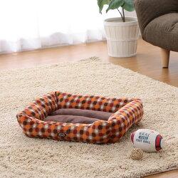 ソファベッド角型MサイズPSKJ530レッドグリーンペットベッドベッドペット犬イヌいぬ猫ネコねこあったか秋冬冬用ペット用犬用猫用手洗い洗濯かわいい可愛い肉球足あとスクエア小型犬アイリスオーヤマ