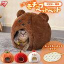 【あったかセット】犬 猫 ベッド ペット ベッド ホットカーペット セット 冬 モチーフペットベッド PBK くま りんご …