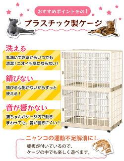 猫ケージ2段プラケージ812送料無料ケージゲージ猫ネコ猫ケージ猫ゲージキャットケージゲージ大型通販おしゃれおすすめケージ飼い室内飼いプラスチックアイリスオーヤマPet館ペット館
