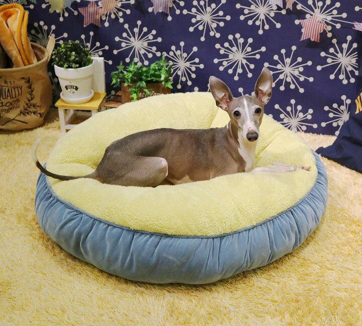 ビッグワンドーナツクッション L ブルーグレー 94997送料無料 クッション 猫 犬 ペット用品 ドギーマンハヤシ 【D】 犬の日