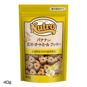 NCT114 バナナ入り 玄米・オートミール クッキー40g NCT114ペットフード ニュートロ おやつ 自然食材 栄養 フルーツ サクサク 犬 ドッグ マース 【D】