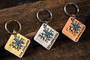 ※メール便で送料無料♪※REGALITO KOBE オーダーメイド 迷子札アンティーク・クロス スクエア型プレート【お名前は8文字まで刻印可能】ネームプレート 名札 ドッグタグ 犬 猫 首輪 ネックレス