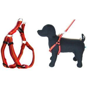 岡野製作所 フラッシュラインハーネス #15 小型犬用 (レッド、ブラック)