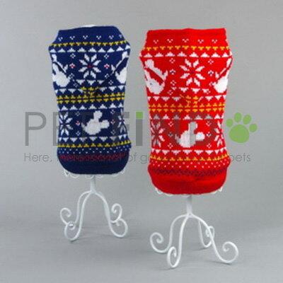 かわいい ノルディック柄 フード付あったかセーター 犬服 ペット服 ドッグウェア