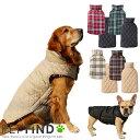 【10%ポイントバック】犬服 ブランド かわいい PETFiND 犬 犬の服 秋冬 リバーシブルチェックベスト 小型犬 中型犬 大…