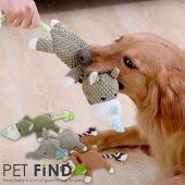 犬のおもちゃ DOG TOY トーイ 音の出るおもちゃ 尻尾ロープの動物トーイ ゾウ サル カバ  鳴き袋入り ペット用品 犬用