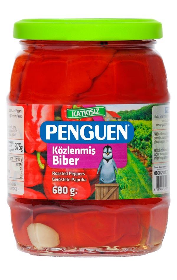 PENGUEN ペンギン 焼き赤パプリカの瓶詰め 680g トルコ産