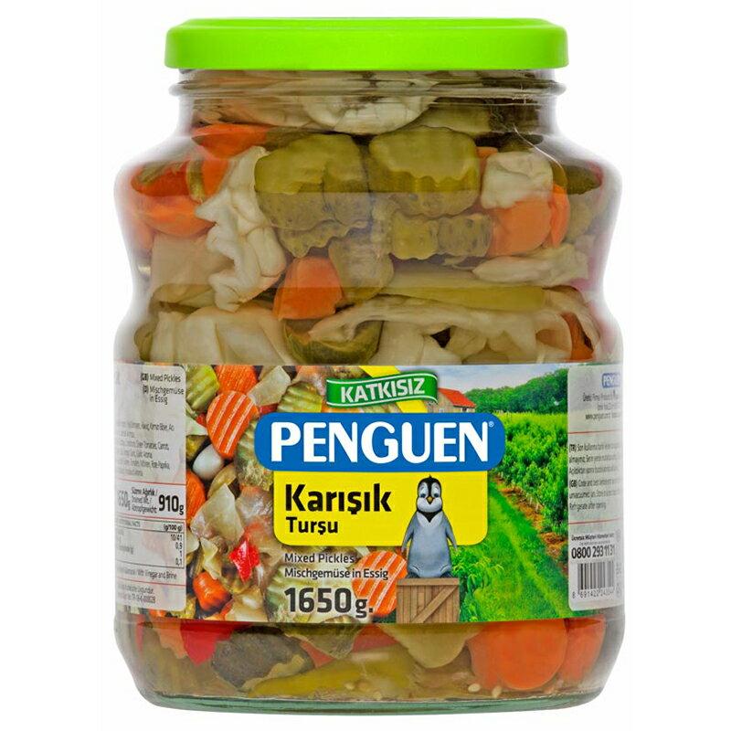 PENGUEN ペンギン ピリ辛ミックスベジタブルピクルス 大瓶 1650g(固形物重量910g) 砂糖不使用 トルコ産