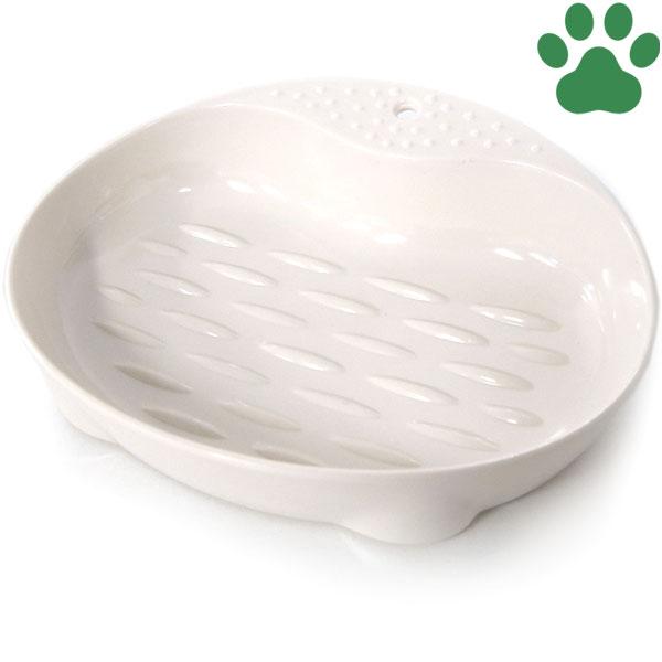 【3】mju:(ミュー) ネコにやさしい食器 SSサイズ (約100ml) アイボリー エイムクリエイツ ワイド 猫用フードボウル プラスチック