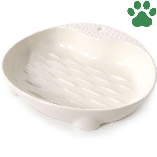 【7】mju:(ミュー) ネコにやさしい食器 Sサイズ アイボリー エイムクリエイツ ワイド 猫用フードボウル プラスチック