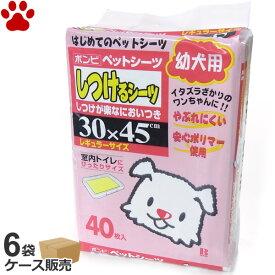 【180】[ケース][620円/1袋] ボンビ しつけるシーツ 幼犬用 レギュラー 40枚 x 6袋 犬用ペットシーツ 子犬 トイレ しつけ ペットシート ボンビアルコン