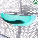 【100】ドギーマンハヤシ 絶景リゾートベッド 猫用 グリーン マット付き体重10kgまで ガラス窓取付ベッド ウイ…