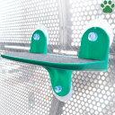 【40】ドギーマンハヤシ 絶景リゾートテラス 猫用 グリーン体重10kgまで ガラス窓取付 キャットウォーク ステッ…