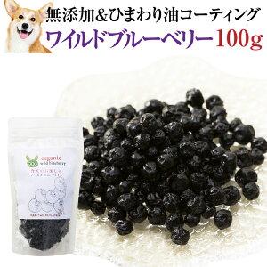 犬・猫の目に 無添加・有機 ブルーベリー(ワイルドブルーベリー 100g)【通常便 送料無料】