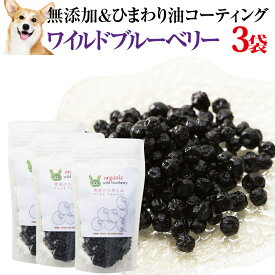 犬・ペットの目 に 有機・無添加 ブルーベリー(ワイルドブルーベリー 1袋100g×3袋)おやつ 【通常便 送料無料】