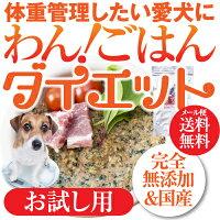 犬用無添加ドッグフード(わん!ごはんダイエットお試し)体重管理・肥満な犬の手作りご飯【メール便送料無料】