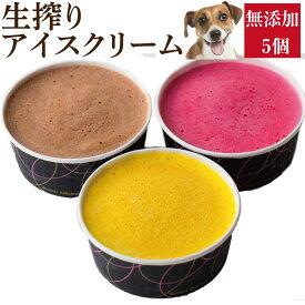 犬用 アイス(犬・生搾り・アイスクリーム 5個)無添加 犬の水分補給【クール便】