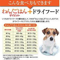 犬用無添加ドッグフード(わん!ごはんダイエットお試し)体重管理・肥満な犬に【メール便送料無料代金引換不可】