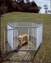 パイプ製ペットサークル UC-126 (高さ120cm) 送料無料 犬 サークル プラスチック製 屋外 野外 室外 ハウス ドッグサー…