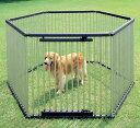 ≪犬小屋≫【送料無料】パイプ製ペットサークル UCS-126[大型犬用 屋外用 アイリスオーヤマ 中型犬] 楽天