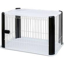 【200円OFFクーポン配布中】ペットサークルCLS-960Yブラック・ホワイト送料無料ペットサークルペットペットケージペットサークル室内用柵サークルケージゲージ犬いぬ幼犬小型犬アイリスオーヤマ