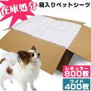 【在庫処分】超薄型ペットシーツ レギュラー800枚/ワイド400枚送料無料 犬 ペットシート シーツ ペットシーツ 犬 トイ…