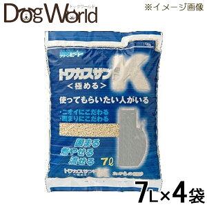 ペグテックトフカスサンドK7L×4袋[猫砂セット販売][同梱不可][送料無料]