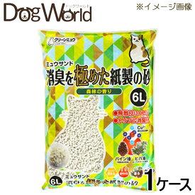 シーズイシハラ クリーンミュウ ミュウサンド 消臭を極めた紙製の砂 6L×7 [ケース販売] [同梱不可] [送料無料]