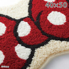 ディズニー 玄関マット ラグ ラグマット ミッキー リボンマット 40×50cm DMM-4060 スミノエ ラグ キャラクター Disney ラグ エントランスマット 絨毯 カーペット