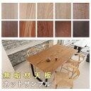 【無垢材天板樹種サンプル】木の温もりを生かしたシミにならないメンテナンスフリー塗装ダイニングテーブルのカットサンプルオーダーテ…