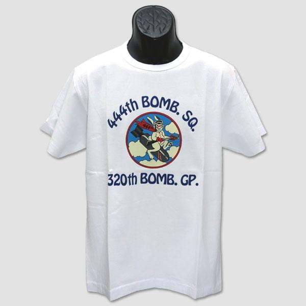 """バズ・リクソンズ BUZZ RICKSON'S ミリタリー半袖Tシャツ """"444th BOMB SQ"""" BR77366"""